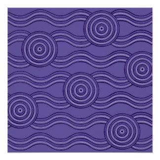Aboriginal art melaleuca poster