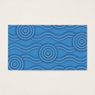 Aboriginal art ocean business card