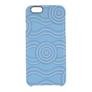 Aboriginal art ocean clear iPhone 6/6S case