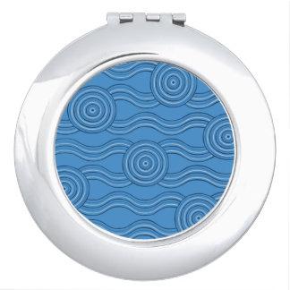 Aboriginal art ocean compact mirrors