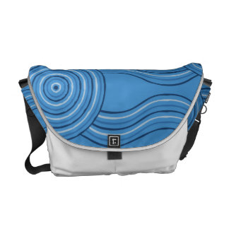 Aboriginal art ocean courier bag
