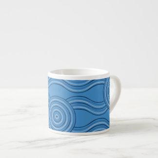 Aboriginal art ocean espresso cup