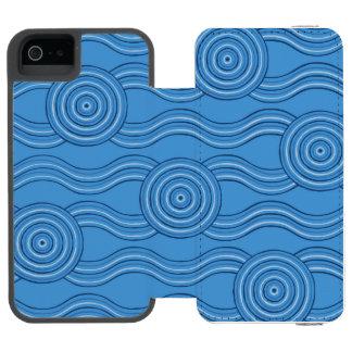 Aboriginal art ocean incipio watson™ iPhone 5 wallet case