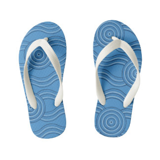Aboriginal art ocean kid's flip flops