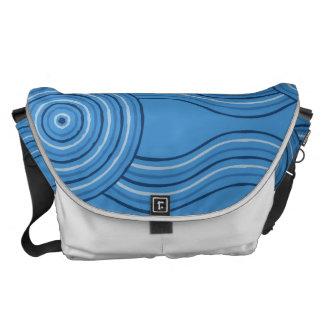 Aboriginal art ocean messenger bag