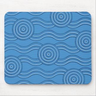 Aboriginal art ocean mouse pad