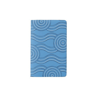Aboriginal art ocean pocket moleskine notebook