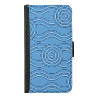 Aboriginal art ocean samsung galaxy s5 wallet case