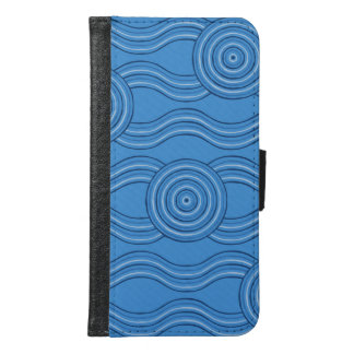 Aboriginal art ocean samsung galaxy s6 wallet case