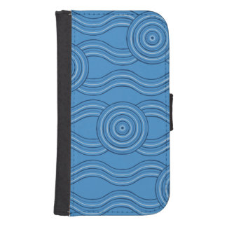 Aboriginal art ocean samsung s4 wallet case
