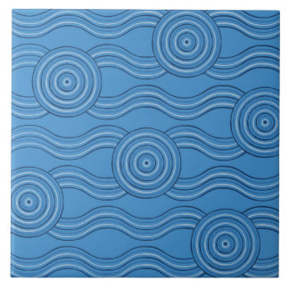 Aboriginal art ocean tile