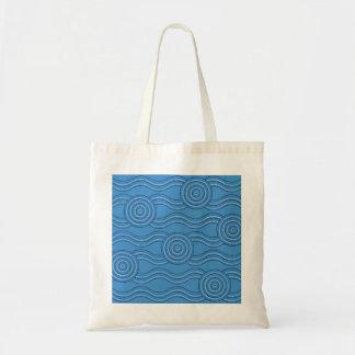 Aboriginal art ocean tote bag