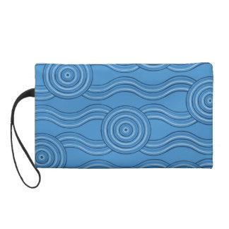 Aboriginal art ocean wristlet purses