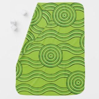 Aboriginal art rainforest baby blanket