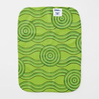 Aboriginal art rainforest burp cloth