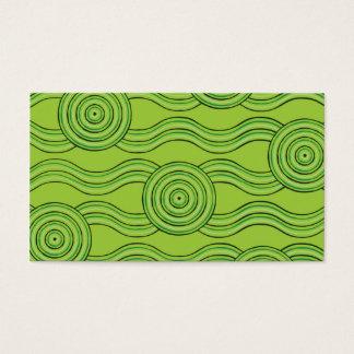 Aboriginal art rainforest business card