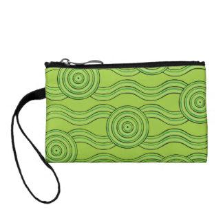 Aboriginal art rainforest coin purse