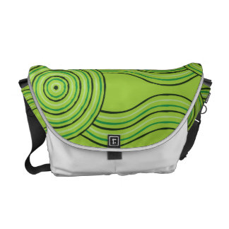 Aboriginal art rainforest commuter bag