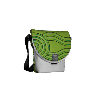 Aboriginal art rainforest commuter bag