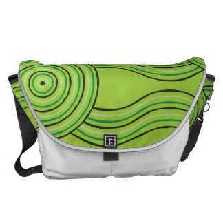 Aboriginal art rainforest commuter bags
