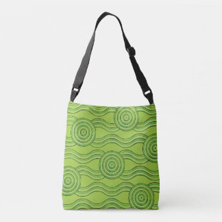 Aboriginal art rainforest crossbody bag