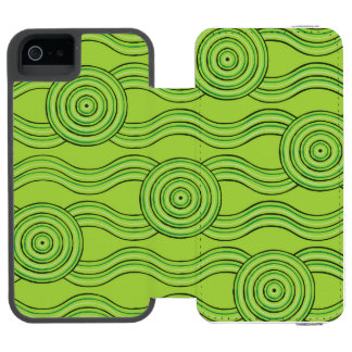 Aboriginal art rainforest incipio watson™ iPhone 5 wallet case