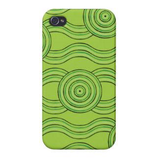 Aboriginal art rainforest iPhone 4 case