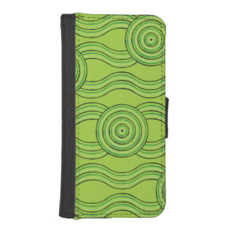 Aboriginal art rainforest iPhone SE/5/5s wallet case