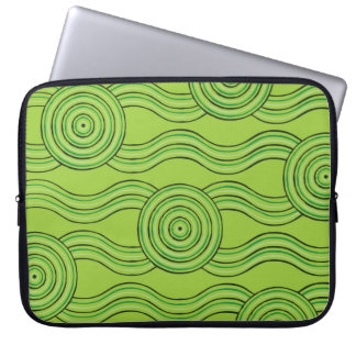 Aboriginal art rainforest laptop sleeve
