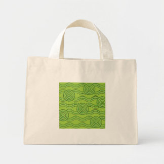 Aboriginal art rainforest mini tote bag