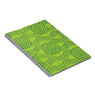 Aboriginal art rainforest notebooks
