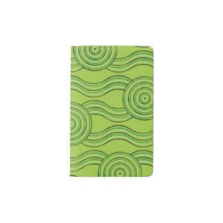 Aboriginal art rainforest pocket moleskine notebook