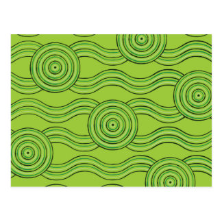 Aboriginal art rainforest postcard