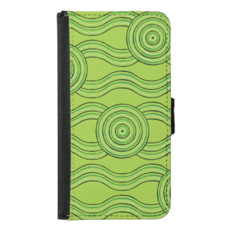 Aboriginal art rainforest samsung galaxy s5 wallet case