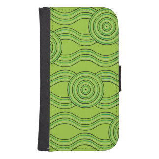 Aboriginal art rainforest samsung s4 wallet case