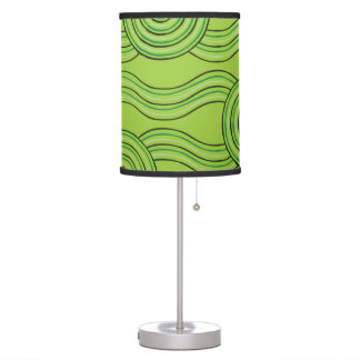Aboriginal art rainforest table lamp