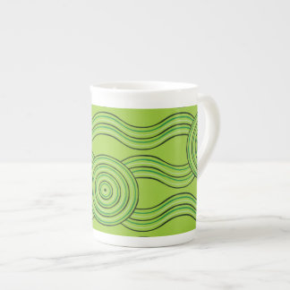 Aboriginal art rainforest tea cup