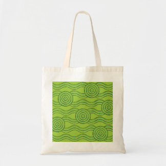 Aboriginal art rainforest tote bag