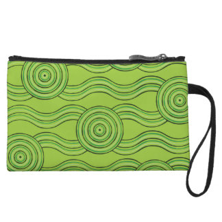 Aboriginal art rainforest wristlet
