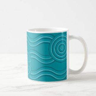 Aboriginal art reef coffee mug