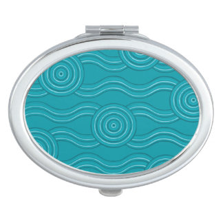 Aboriginal art reef makeup mirror