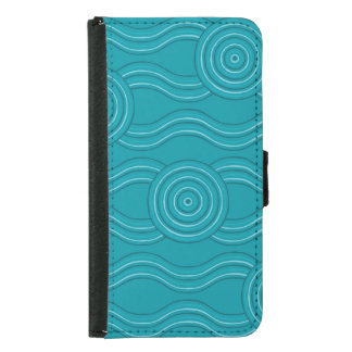 Aboriginal art reef samsung galaxy s5 wallet case