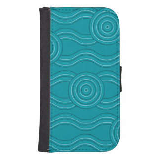 Aboriginal art reef samsung s4 wallet case