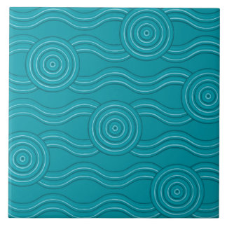 Aboriginal art reef tile