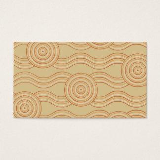 Aboriginal art sandstone business card