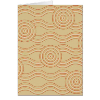 Aboriginal art sandstone card