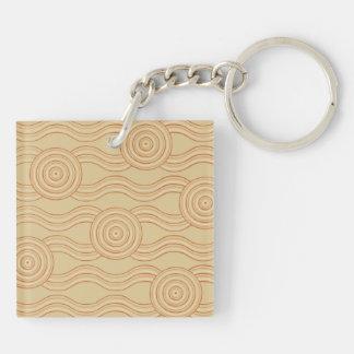 Aboriginal art sandstone keychain