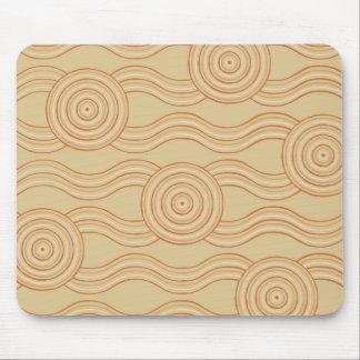 Aboriginal art sandstone mouse pad