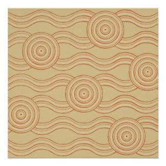 Aboriginal art sandstone poster