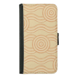 Aboriginal art sandstone samsung galaxy s5 wallet case